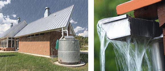 Beispiel für die Regenwassernutzung
